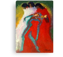 Red and white women Canvas Print