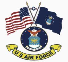 U. S & Air Force Crossed Flags by Spacestuffplus