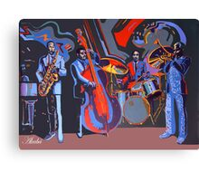 Dizzy and jazz masters Canvas Print