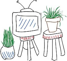 tv and plants by youtuber-club