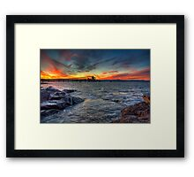 Sunset Over Bass Point v3 Framed Print