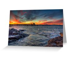 Sunset Over Bass Point v3 Greeting Card