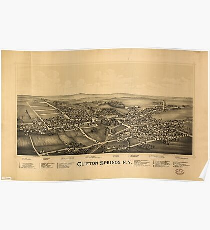 Panoramic Maps Clifton Springs NY Poster