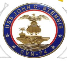 USS John C. Stennis (CVN-74) Crest for Dark Colors Sticker