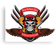 Borneo Headhunter Bikers Canvas Print