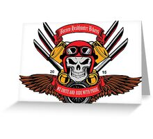 Borneo Headhunter Bikers Greeting Card
