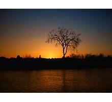 Orange and Blue Sunset In Nova Scotia Photographic Print