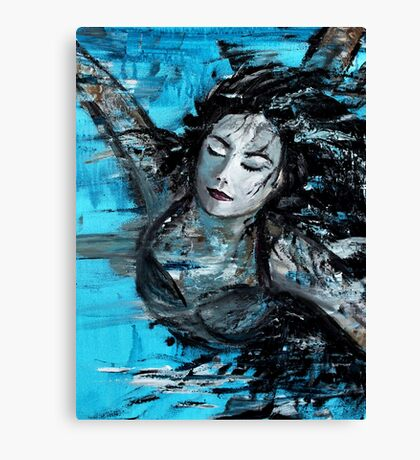 The Swimmer - painted Canvas Print