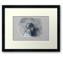 A figure study Framed Print