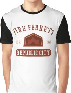 Republic City's Fire Ferrets (Red) Graphic T-Shirt