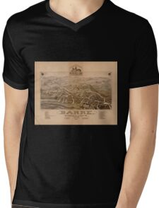 Panoramic Maps Barre Washington County VT 1884 Mens V-Neck T-Shirt
