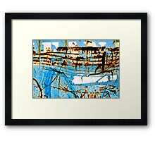 Blue Industry Framed Print