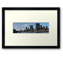 Brisbane from Southbank (I-i) Framed Print
