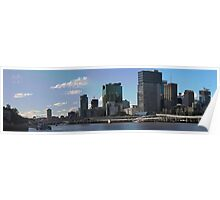 Brisbane from Southbank (I-i) Poster
