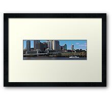 Brisbane from Southbank (I-ii) Framed Print