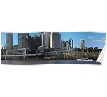 Brisbane from Southbank (I-ii) Poster