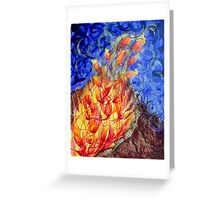 The fire flower Greeting Card
