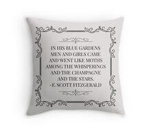 Blue Gardens Throw Pillow
