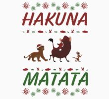 Hakuna Matata Ugly Christmas Sweater Kids Clothes