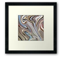 cool Abstract neutral Chocolate brown tan swirls pattern Framed Print