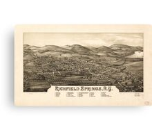 Panoramic Maps Richfield Springs NY Canvas Print