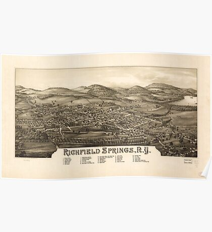 Panoramic Maps Richfield Springs NY Poster