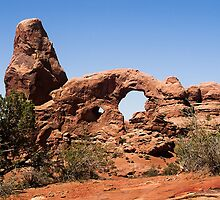 Turret Arch, Arches National Park, Utah by Kenneth Keifer