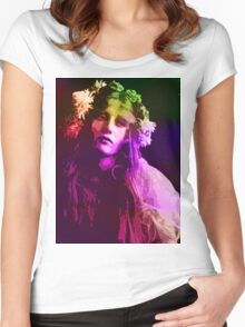 EARLY 20th CENTURY FLOWER CHILD Women's Fitted Scoop T-Shirt