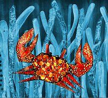 Posidonia oceanica + crab by joancaronil