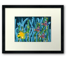Posidonia oceanica + fishes Framed Print
