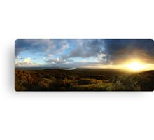 Last Hurrah - Sunset Wybung Head Lookout Canvas Print