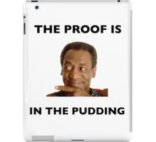 The Proof Is In The Pudding : Black Writing iPad Case/Skin