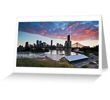 Sickly sweet sunset, Wilson's Outlook, Brisbane Greeting Card