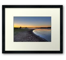 Sunset Groove Framed Print