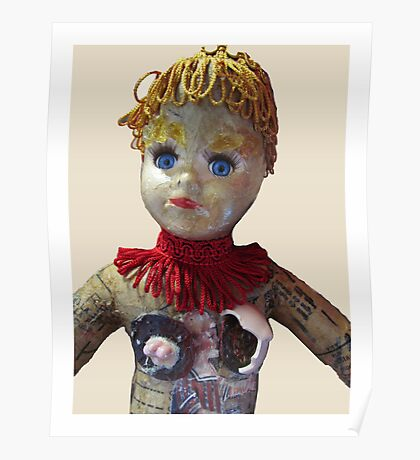 Interiority doll-head Poster
