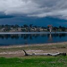 Stormy Lake Hume by Hedoff