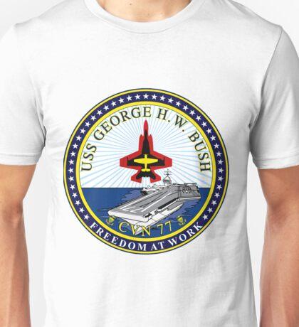 USS George H.W. Bush (CVN-77) Crest Unisex T-Shirt