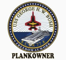 USS George H.W. Bush (CVN-77) Plankowner Crest by Spacestuffplus