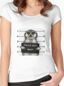 Meerkat Mugshot Women's Fitted Scoop T-Shirt