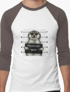 Meerkat Mugshot Men's Baseball ¾ T-Shirt