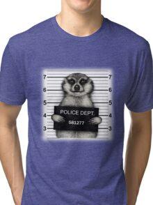 Meerkat Mugshot Tri-blend T-Shirt