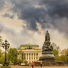 St. Petersburg, Russia. Monument to Catherine the Great . by LudaNayvelt