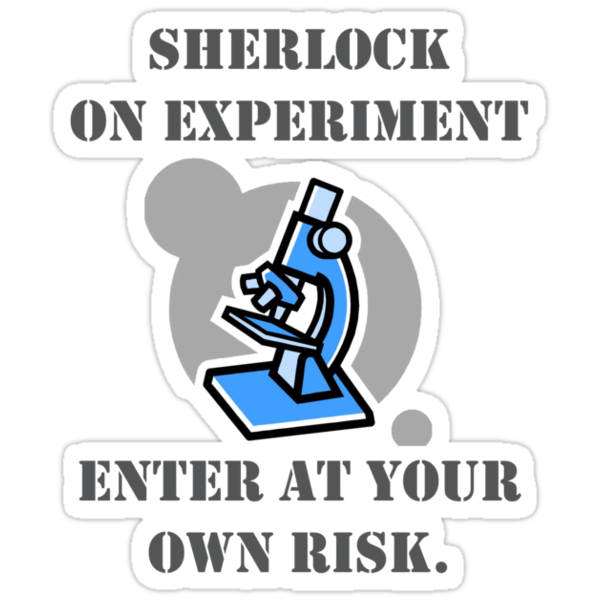Sherlock on experiment /sticker by SallySparrowFTW