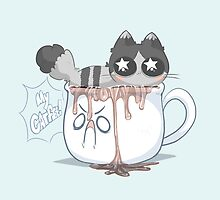 the coffee cat by ionedemilynn