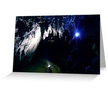 Waitomo Glow Worm Caves Greeting Card