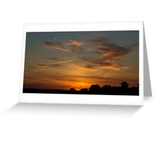 Charging the Sunset Greeting Card