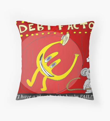 Binary Options News Cartoon Throw Pillow