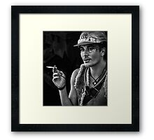young nimbin man Framed Print