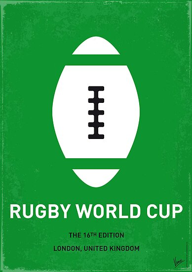 MY RUGBY MINIMAL POSTER by Chungkong