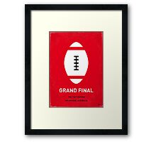 MY GRAND FINAL MINIMAL POSTER Framed Print